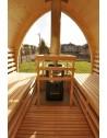 Sauna medinė, su panoraminiu langu