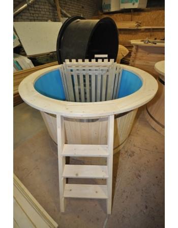 Atpigo: mėlyno plastiko eglinis kubilas 160 cm